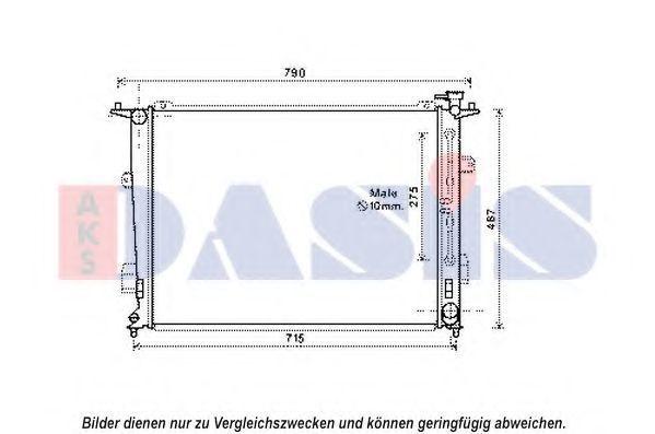 Радиатор, охлаждение двигателя AKS DASIS 560081N