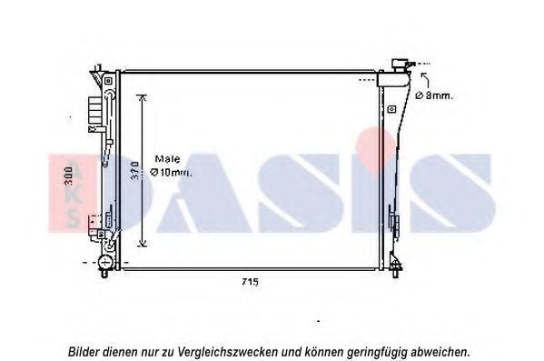 Радиатор, охлаждение двигателя AKS DASIS 560084N