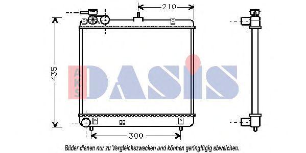 Радиатор, охлаждение двигателя AKS DASIS 560350N