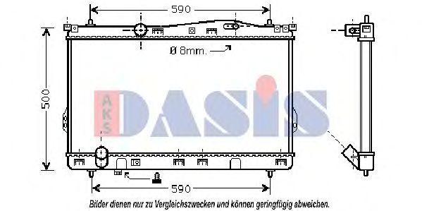 Радиатор, охлаждение двигателя AKS DASIS 560400N