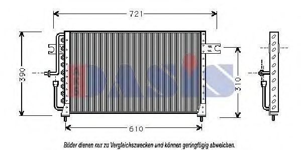Конденсатор, кондиционер AKS DASIS 562030N