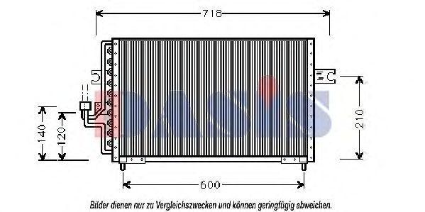 Конденсатор, кондиционер AKS DASIS 562080N