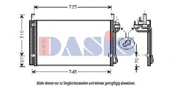 Конденсатор, кондиционер AKS DASIS 562140N