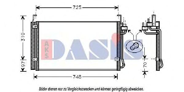 Конденсатор, кондиционер AKS DASIS 562150N