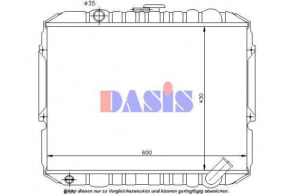 Радиатор, охлаждение двигателя AKS DASIS 569001N