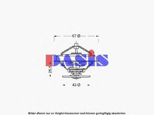 Термостат, охлаждающая жидкость AKS DASIS 750411N