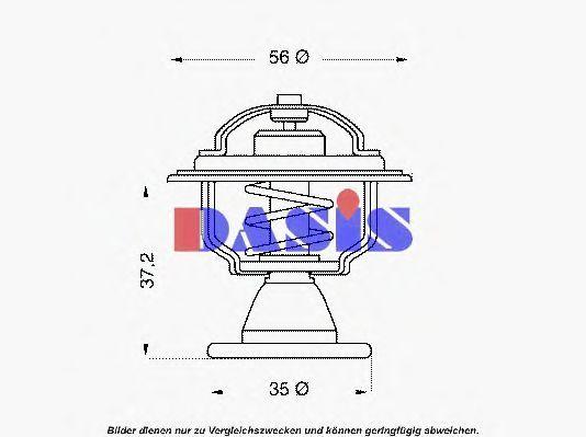 Термостат, охлаждающая жидкость AKS DASIS 750443N