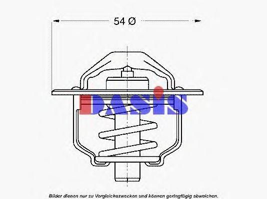 Термостат, охлаждающая жидкость AKS DASIS 750898N