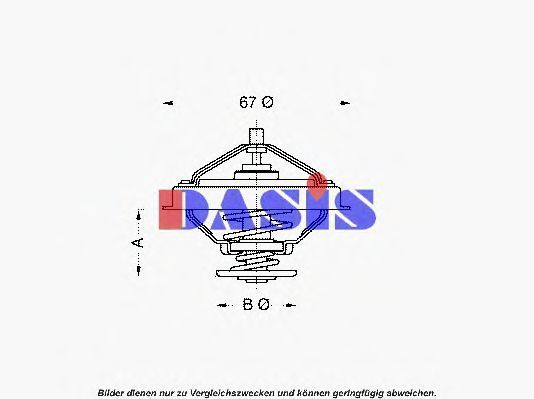 Термостат, охлаждающая жидкость AKS DASIS 750931N