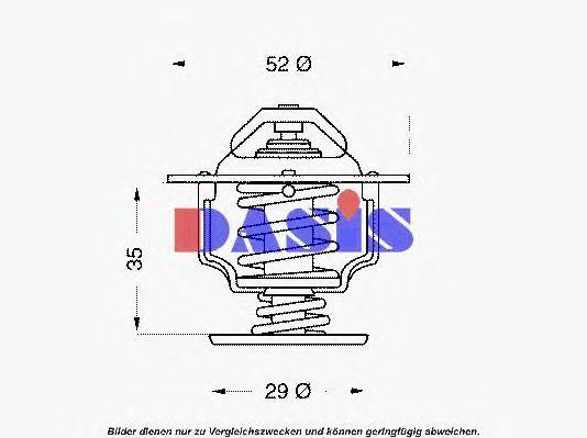 Термостат, охлаждающая жидкость AKS DASIS 750933N
