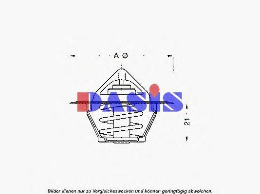 Термостат, охлаждающая жидкость AKS DASIS 750939N