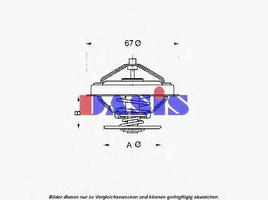Термостат, охлаждающая жидкость AKS DASIS 750953N