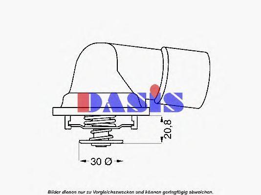 Термостат, охлаждающая жидкость AKS DASIS 751637N
