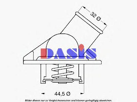 Термостат, охлаждающая жидкость AKS DASIS 751779N