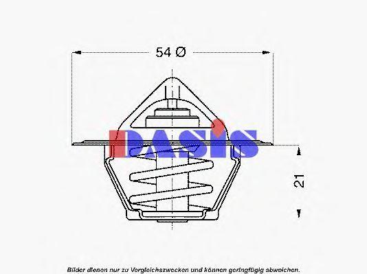 Термостат, охлаждающая жидкость AKS DASIS 751780N