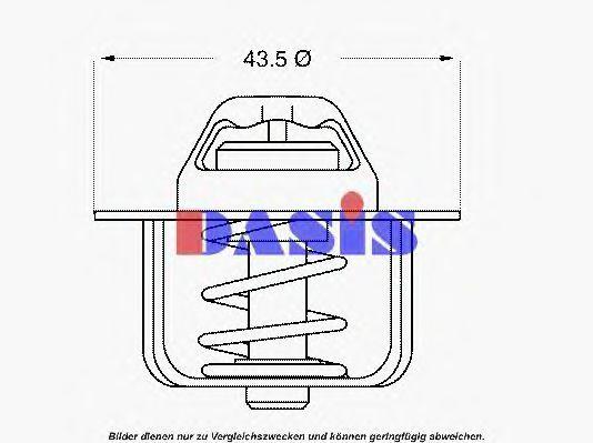 Термостат, охлаждающая жидкость AKS DASIS 751786N