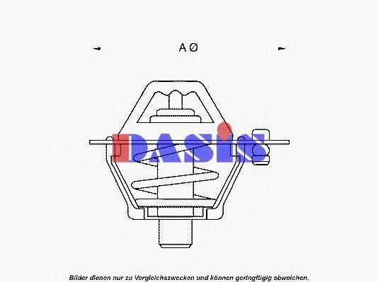 Термостат, охлаждающая жидкость AKS DASIS 751803N