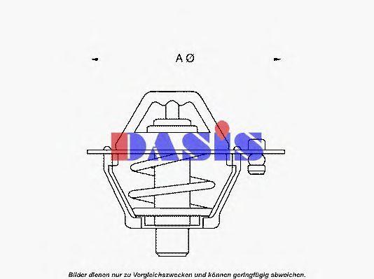 Термостат, охлаждающая жидкость AKS DASIS 751811N