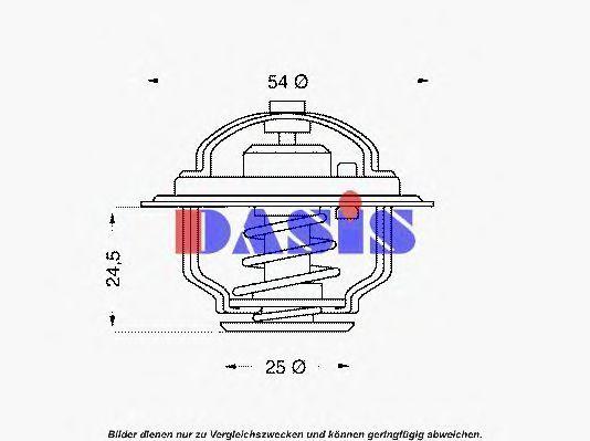 Термостат, охлаждающая жидкость AKS DASIS 751853N