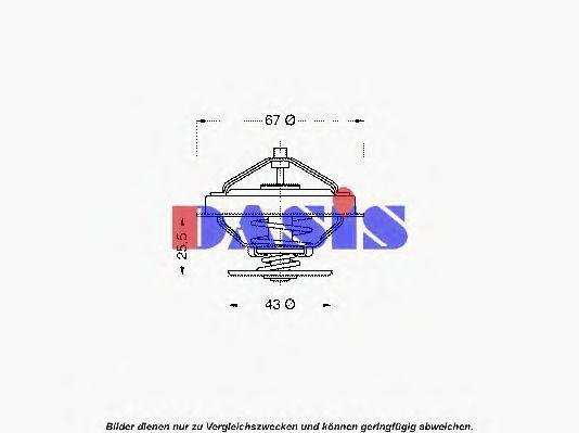 Термостат, охлаждающая жидкость AKS DASIS 751864N