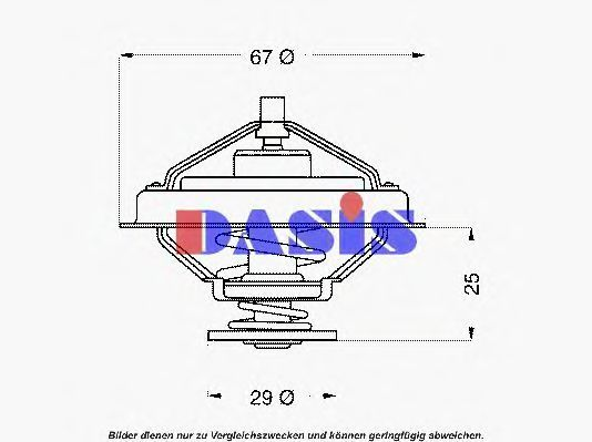 Термостат, охлаждающая жидкость AKS DASIS 751898N