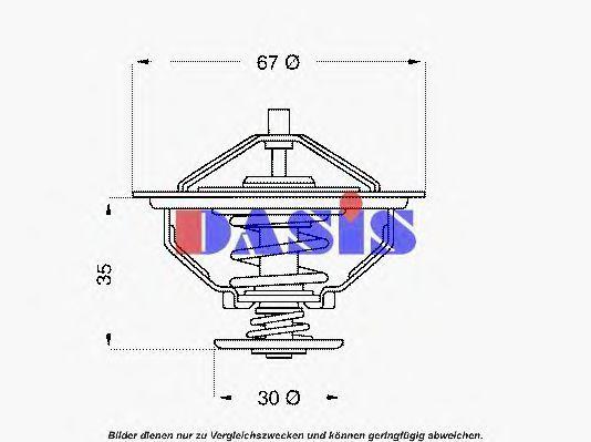 Термостат, охлаждающая жидкость AKS DASIS 751922N