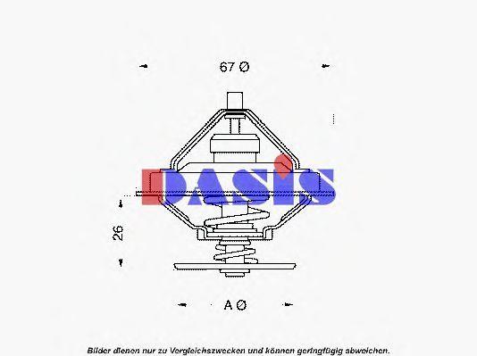 Термостат, охлаждающая жидкость AKS DASIS 751929N