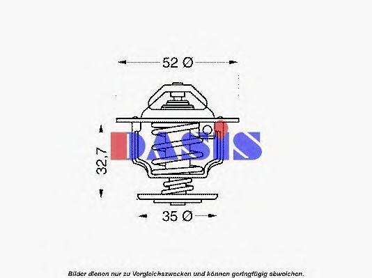 Термостат, охлаждающая жидкость AKS DASIS 751946N
