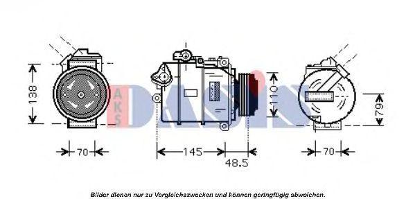 Компрессор, кондиционер AKS DASIS 850010N