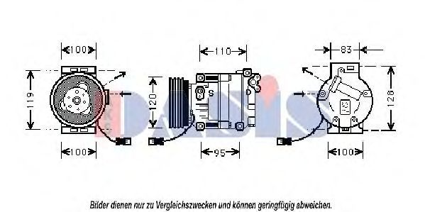Компрессор, кондиционер AKS DASIS 850011N