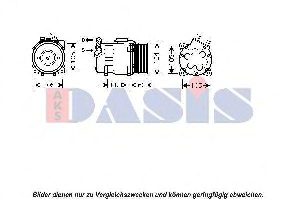 Компрессор, кондиционер AKS DASIS 850103N