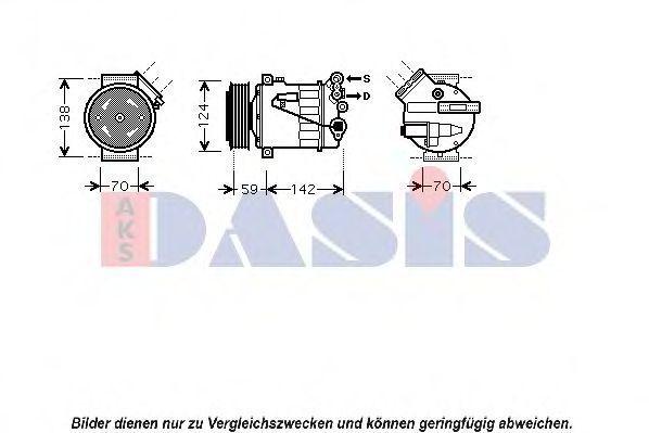 Компрессор, кондиционер AKS DASIS 850393N