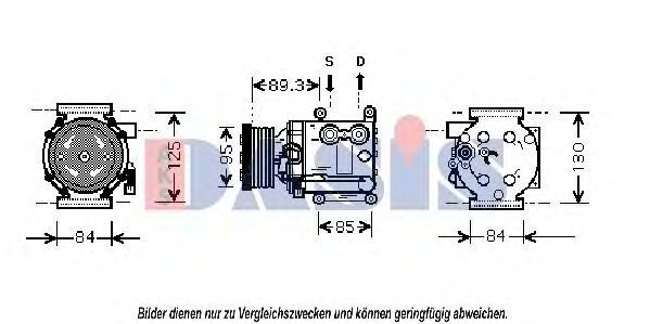 Компрессор, кондиционер AKS DASIS 850567N