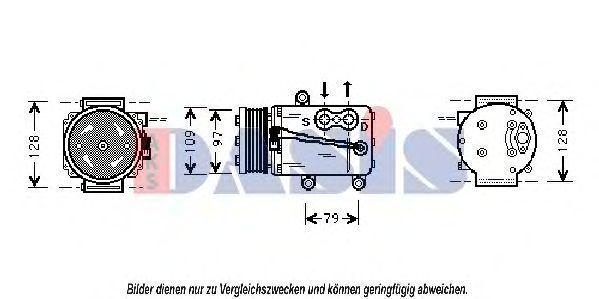 Компрессор, кондиционер AKS DASIS 850568N