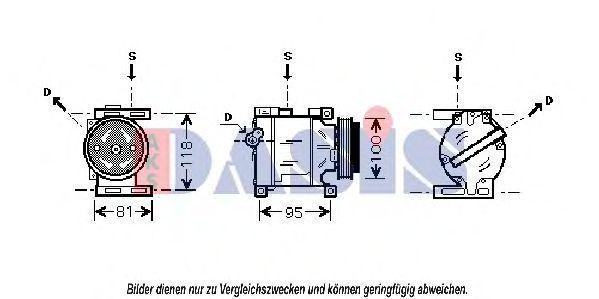 Компрессор, кондиционер AKS DASIS 850573N