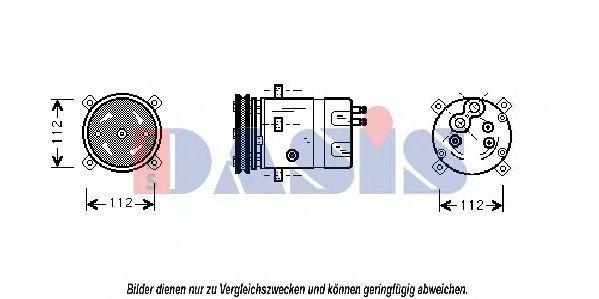 Компрессор, кондиционер AKS DASIS 850706N