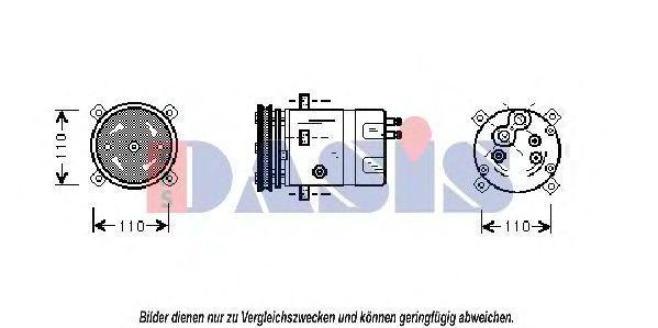 Компрессор, кондиционер AKS DASIS 850736N