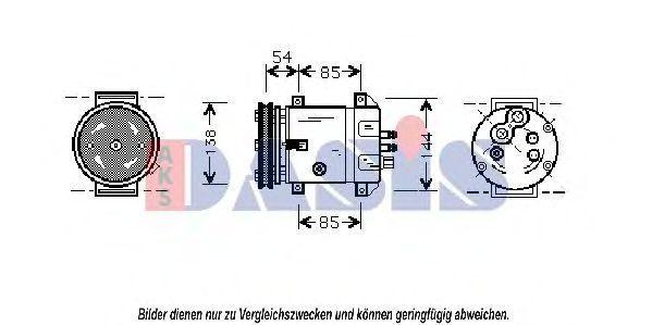 Компрессор, кондиционер AKS DASIS 850758N