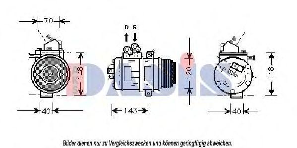 Компрессор, кондиционер AKS DASIS 850763N