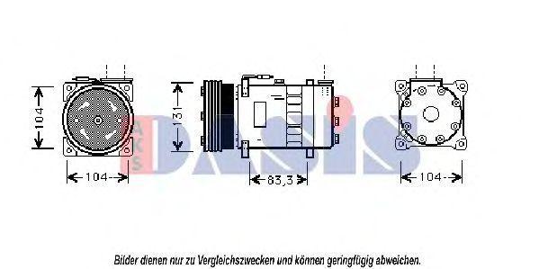 Компрессор, кондиционер AKS DASIS 850803N