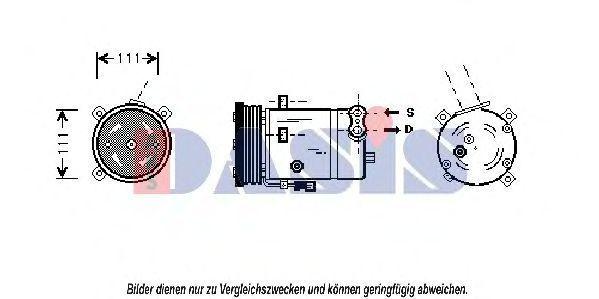 Компрессор, кондиционер AKS DASIS 850950N