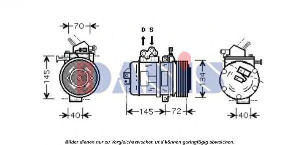 Компрессор, кондиционер AKS DASIS 850954T