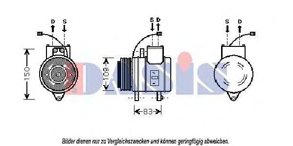 Компрессор, кондиционер AKS DASIS 851011N