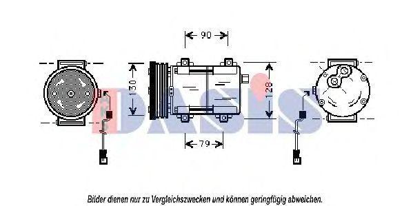 Компрессор, кондиционер AKS DASIS 851023N