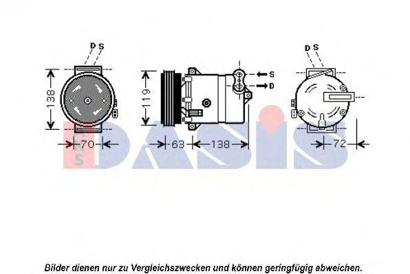 Компрессор, кондиционер AKS DASIS 851052N