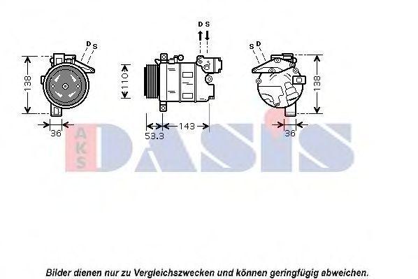 Компрессор, кондиционер AKS DASIS 851083N