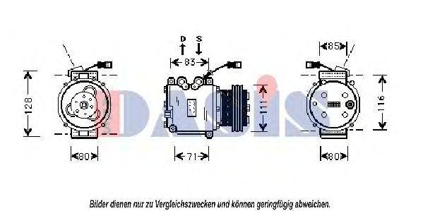 Компрессор, кондиционер AKS DASIS 851101N