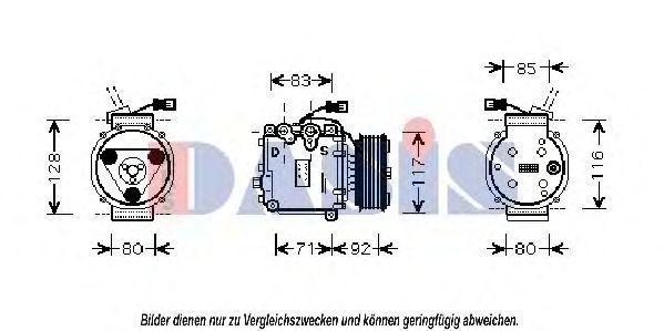 Компрессор, кондиционер AKS DASIS 851388N