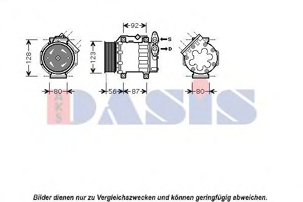 Компрессор, кондиционер AKS DASIS 851430N