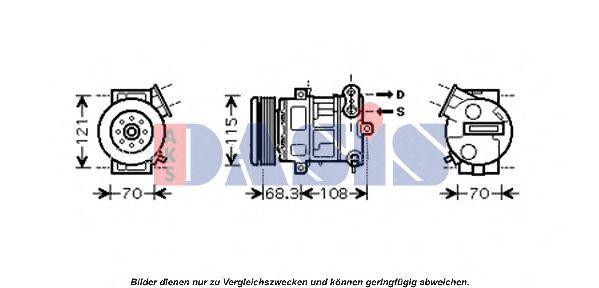 Компрессор, кондиционер AKS DASIS 851554N